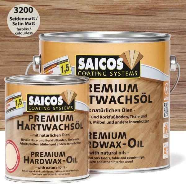 SAICOS Premium Hartwachsöl 3200 Seidenmatt farblos