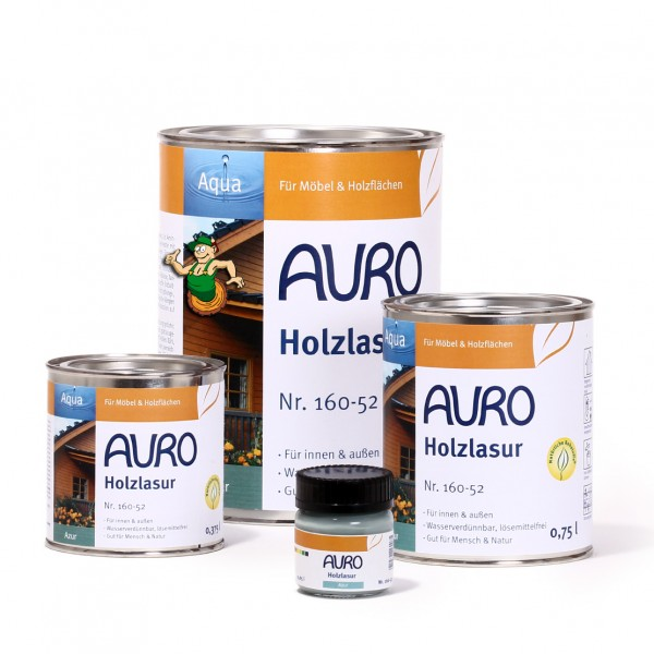 Holzlasur, Aqua, Nr. 160-52 Azur