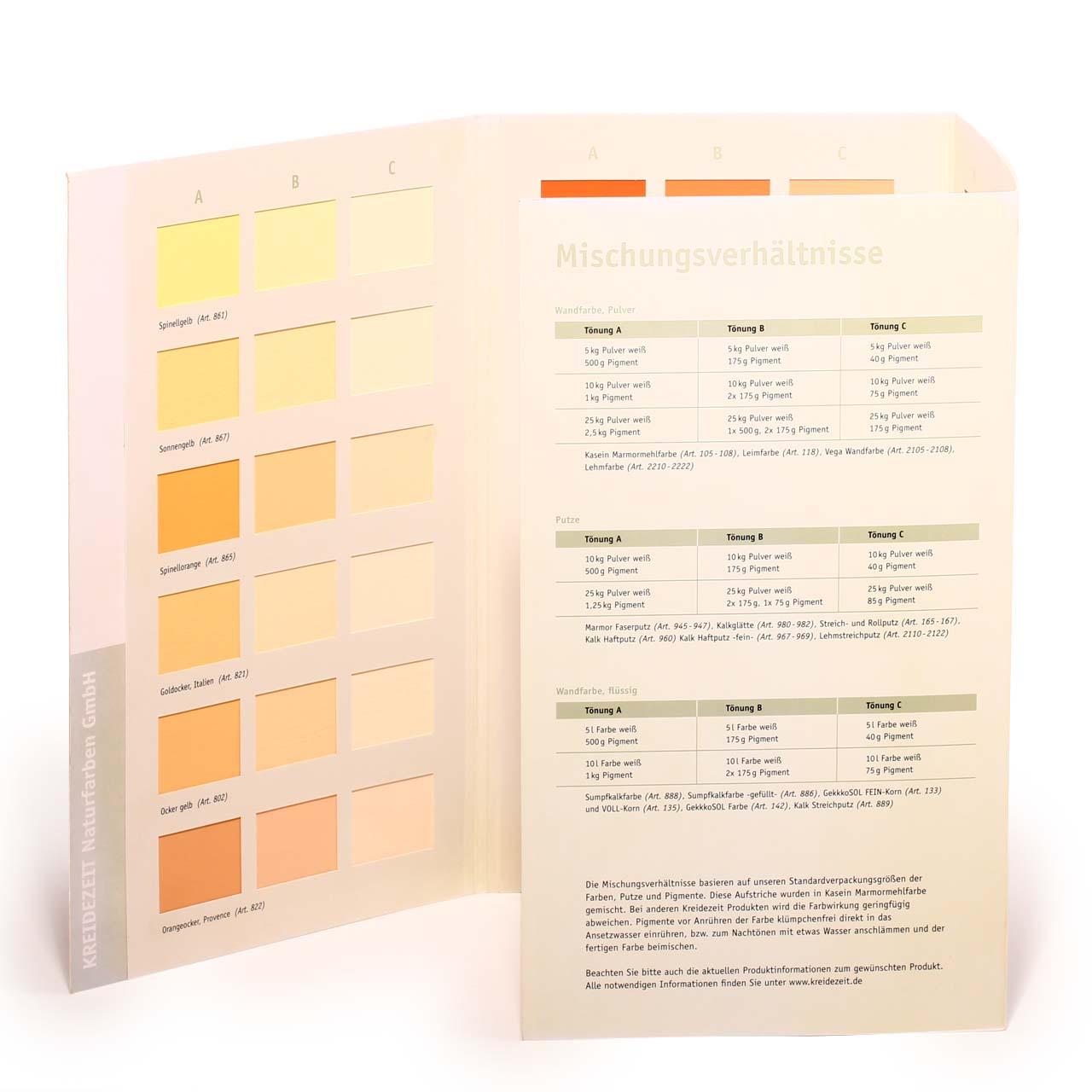 Wandfarbe Goldocker: Kreidezeit Farbkarte Wandfarben