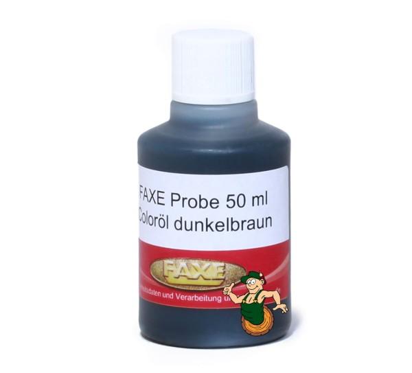 Coloröl dunkelbraun 50 ml Probe