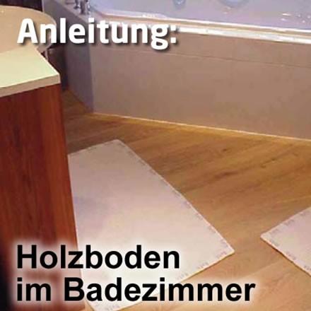 Geölter Boden im Badezimmer