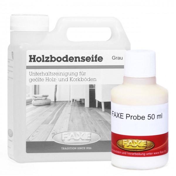 Holzbodenseife grau 50 ml - Probe
