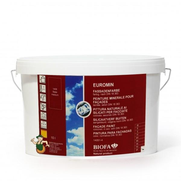 EUROMIN Fassadenfarbe, 10 Liter, weiß 1405