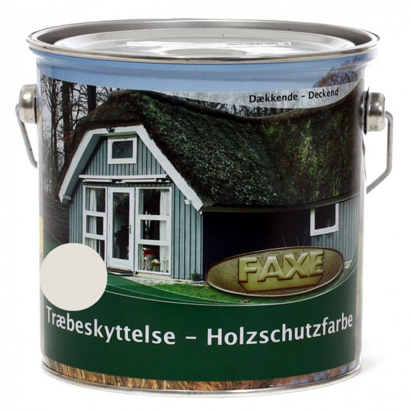 Holzschutzfarbe Weiß RAL 9010 2,5 l