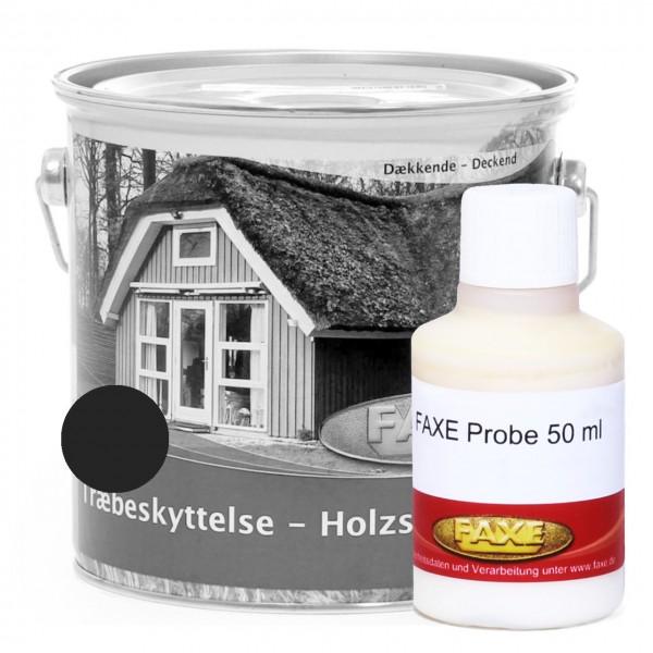 Holzschutzfarbe Schwarz - 50 ml Probe