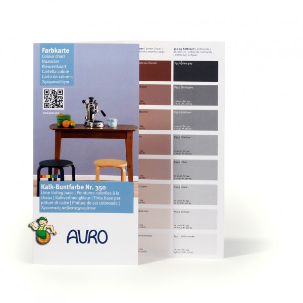 Farbkarte klein Kalk-Buntfarbe Nr. 350