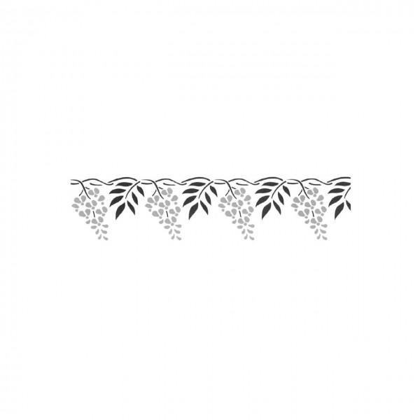 Schablone Floral zweischlägig